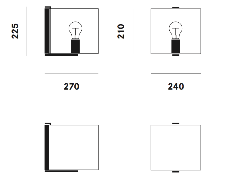 Dimension applique CPL W1 Prandina