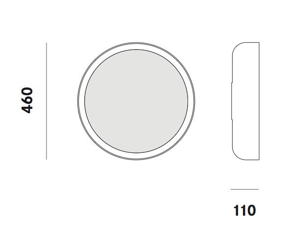 Dimension applique Mint W4 Prandina