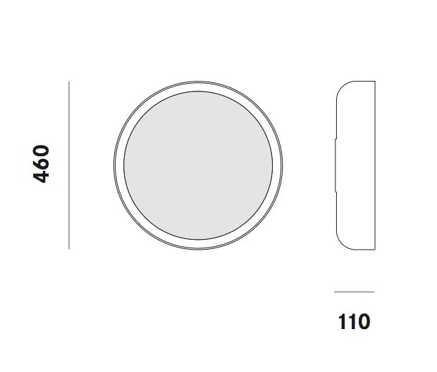 Dimension applique Mint W5 Prandina