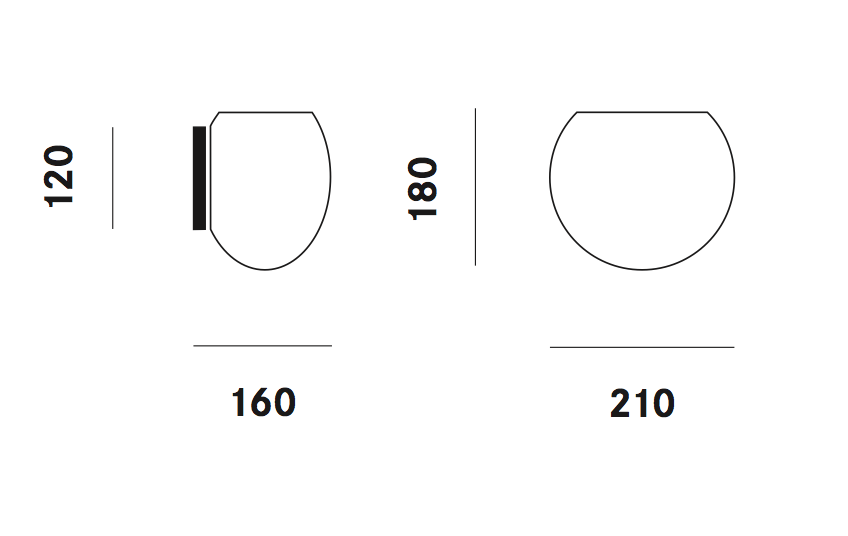 Dimension applique Zero W3G9 Prandina