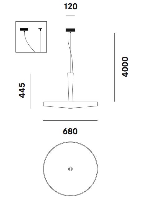 Suspension Equilibre S33 Prandina