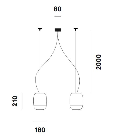 Suspension Gong S11 Prandina