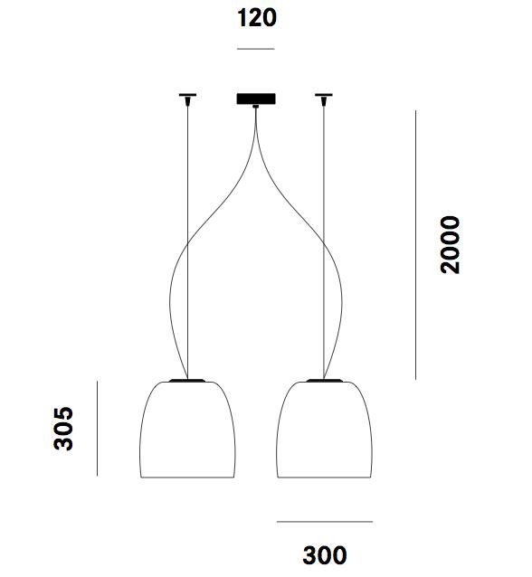 Dimension suspension Notte S33 Prandina