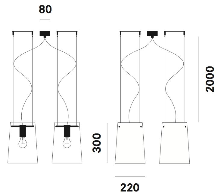 Dimension suspension Sera Small S11 Prandina