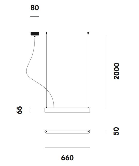 Dimension suspension Teca S1 Prandina