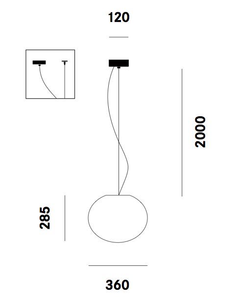 Dimension suspension Zerodieci S5 Prandina