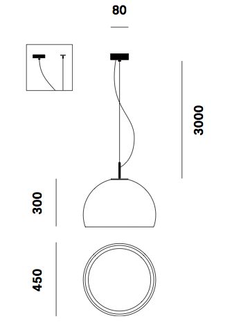 Suspension Biluna S5 Prandina